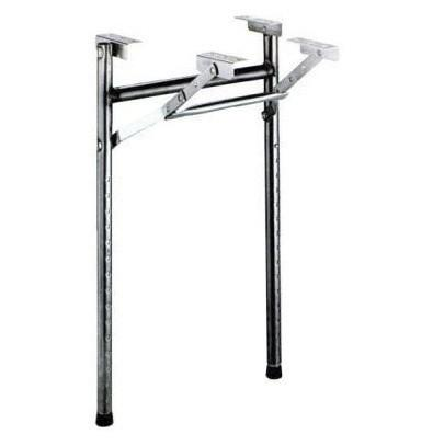 Casino Supply Folding Black Metal Table Legs: 29 Tall x 24 Inches Wide, Package of 2