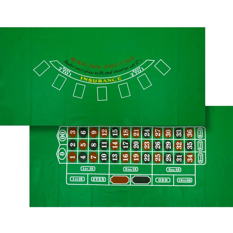 Casino Supply Blackjack / Roulette Felt Layout