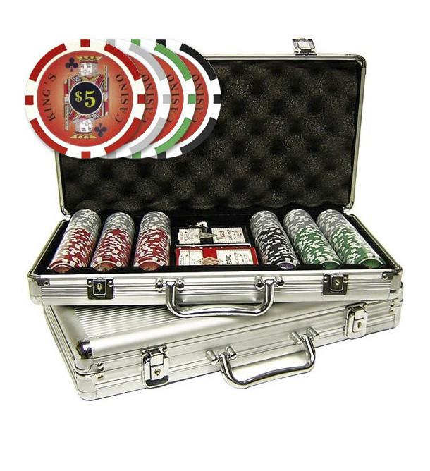 Casino Supply Poker Chips with Rack: Simulated Pearl, 200 Pcs.