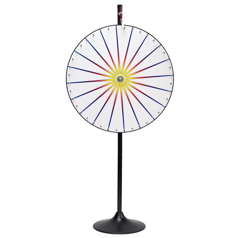 Casino Supply Color Prize Wheel with Stand & Base: 36""