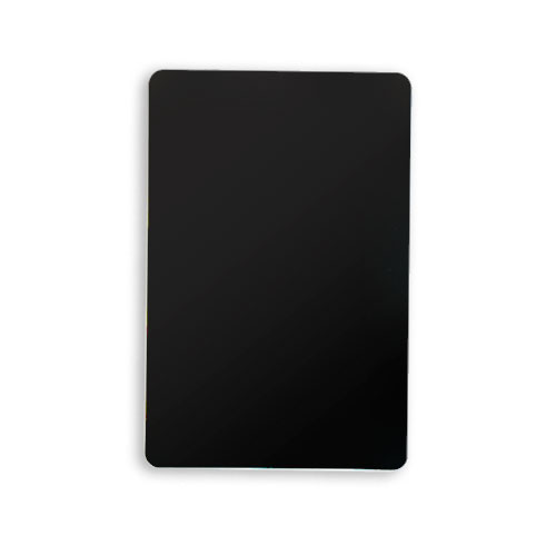 Set of 10 Black Plastic Bridge Size Cut Cards