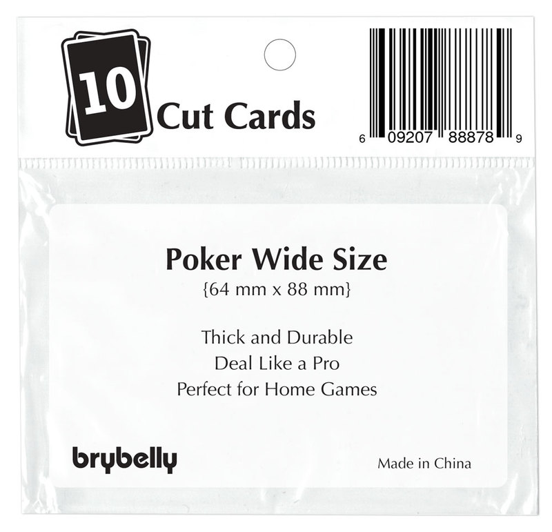 Set of 10 White Plastic Poker Size Cut Cards
