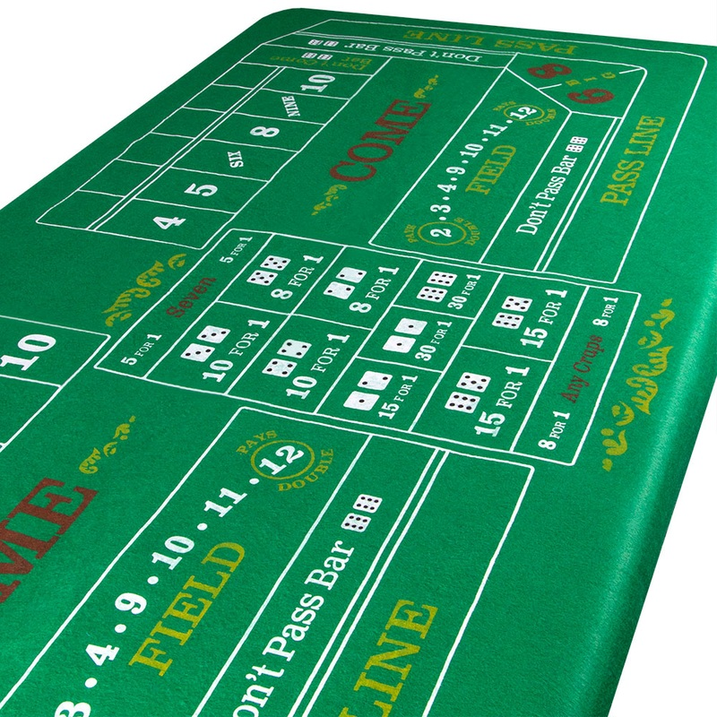 Blackjack and Roulette Table Felt