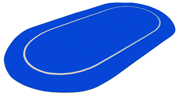 Sure Stick Rubber Foam Table Top - Blue