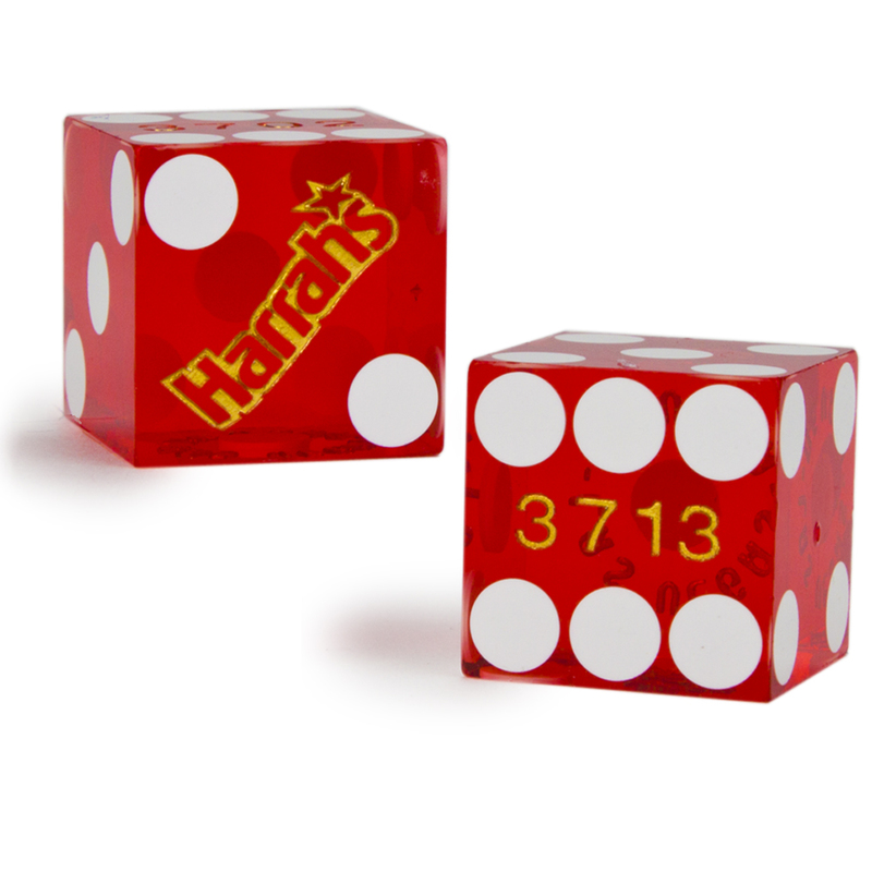Pair (2) of Harrah's 19 MM Official Casino Dice