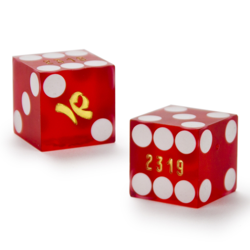 Pair (2) of Imperial Palace 19 MM Official Casino Dice