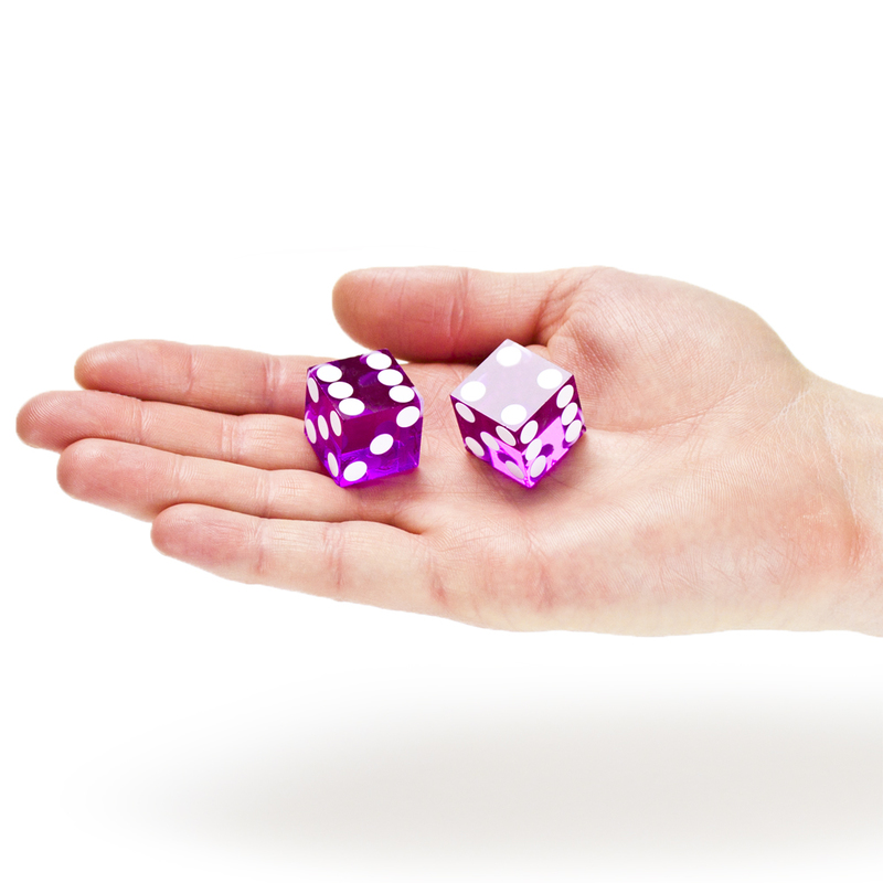 Pair (2) of Official 19mm Casino Dice Used at Bally's Casino