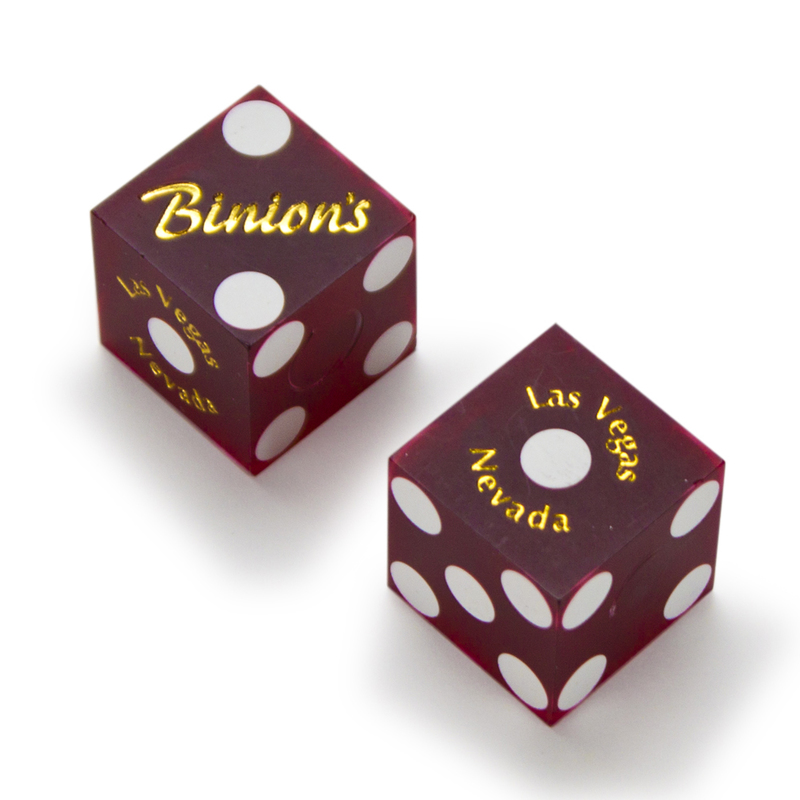 Pair (2) of Official 19mm Casino Dice Used at Binion's