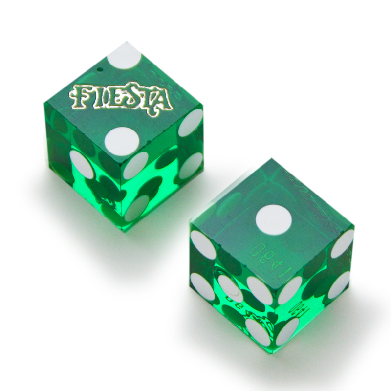 Pair (2) of Official 19mm Casino Dice Used at Fiesta Casinos