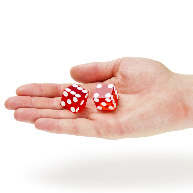 Pair (2) of 19mm Casino Dice Used at The Linq Casino