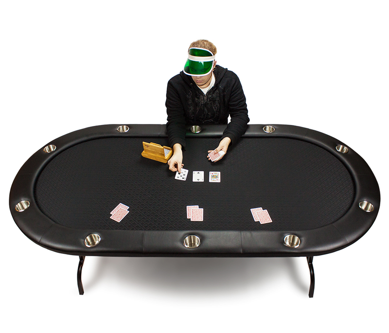 84 x 42inch Black Suited Speed Cloth Poker Table
