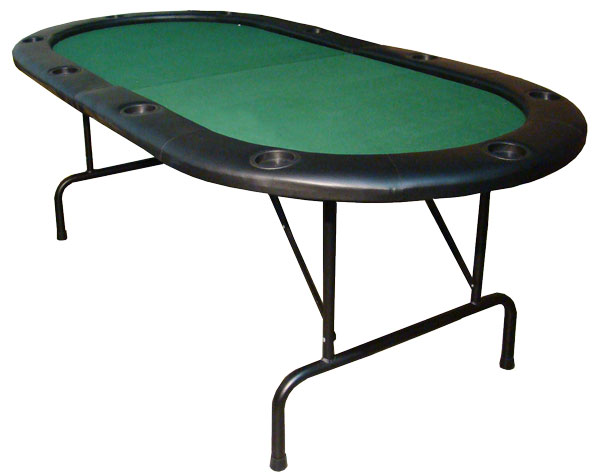 "10 Player Center Fold Poker Table with Folding Legs 84""x 42"""