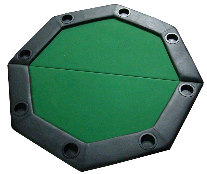 48 Quot Green Felt Octagon Folding Table Top W Padded Rail