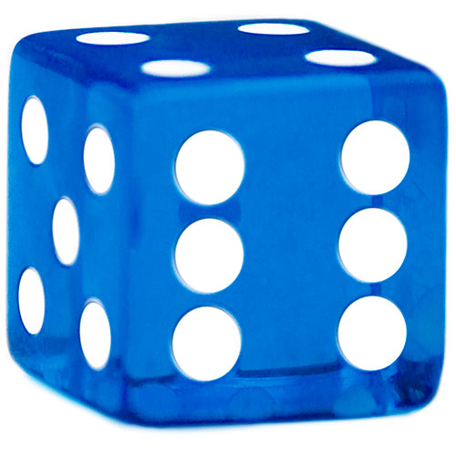 100 Blue Dice - 16 mm