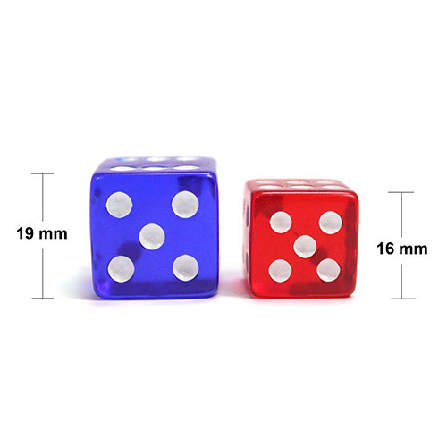 5 Purple Dice - 19 mm