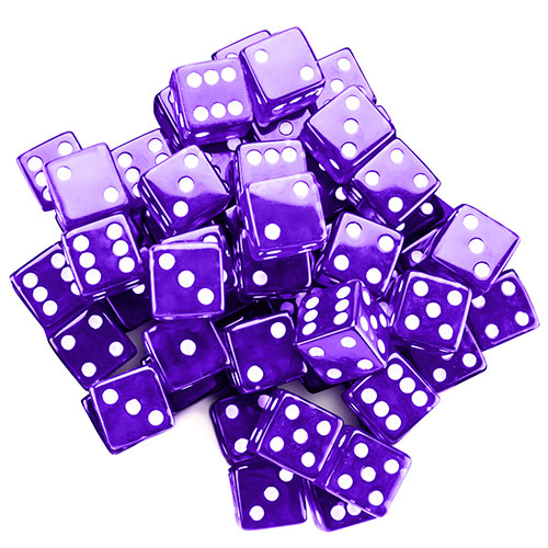 25 Purple Dice - 19 mm
