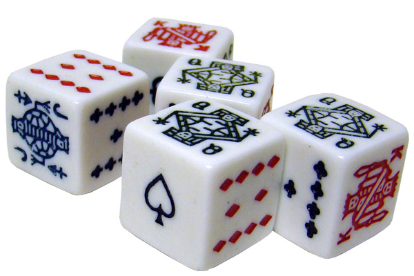 Bicycle Poker Dice Pack - 5 Dice