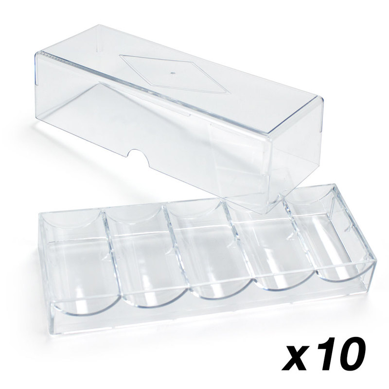 Acrylic Chip Tray WITH Lid - Pack of 10