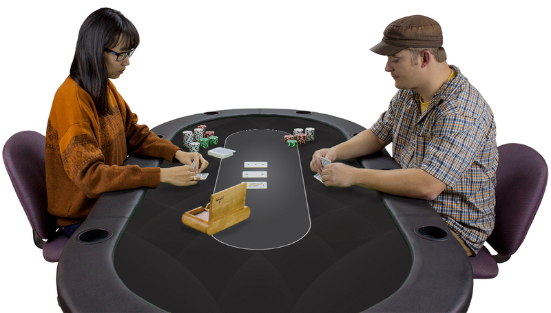 Black Sublimation Poker Table Felt