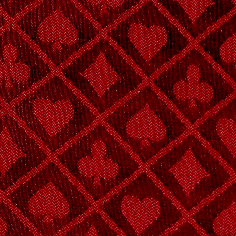 10' Section of Red Two-Tone Poker Table Speed Cloth