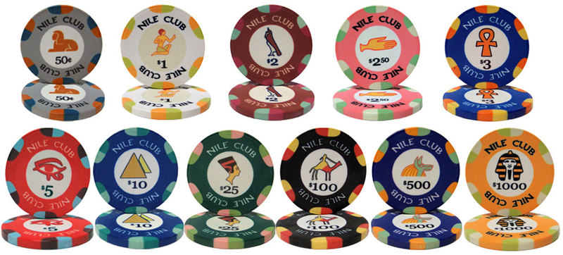 Nile Club 10 Gram Poker Chip - 11 Chips