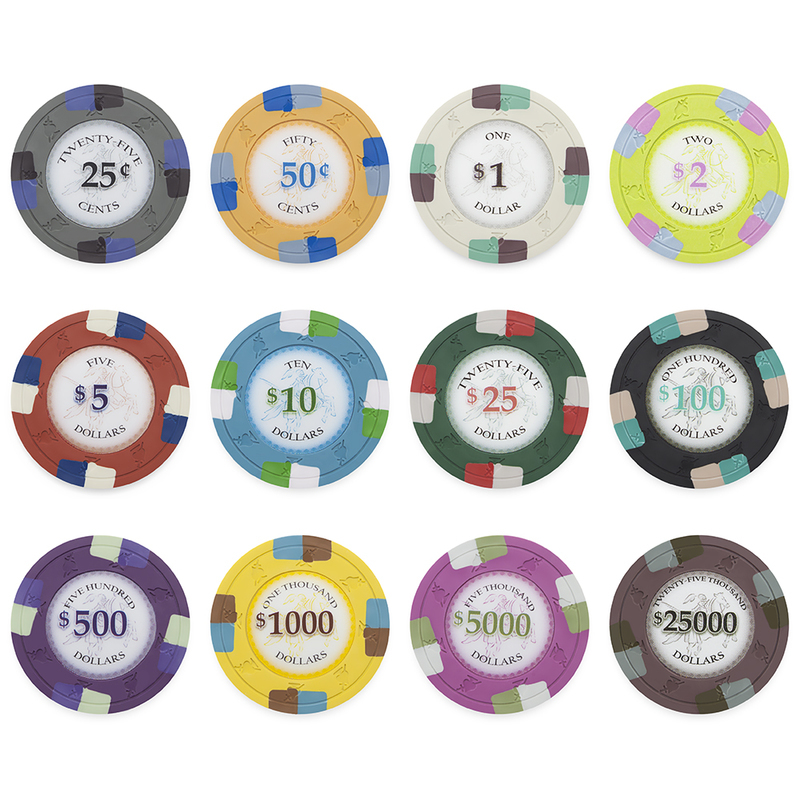 Poker Knights 13.5 Gram Poker Chips Sample Pack - 12 Chips
