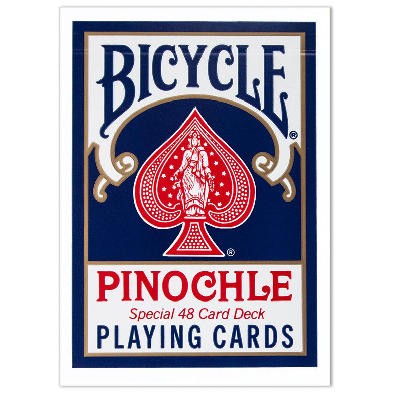 Bicycle Pinochle Standard Index - Red & Blue
