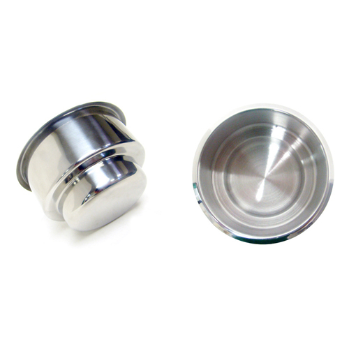Dual Drop in Stainless Steel Cup Holder