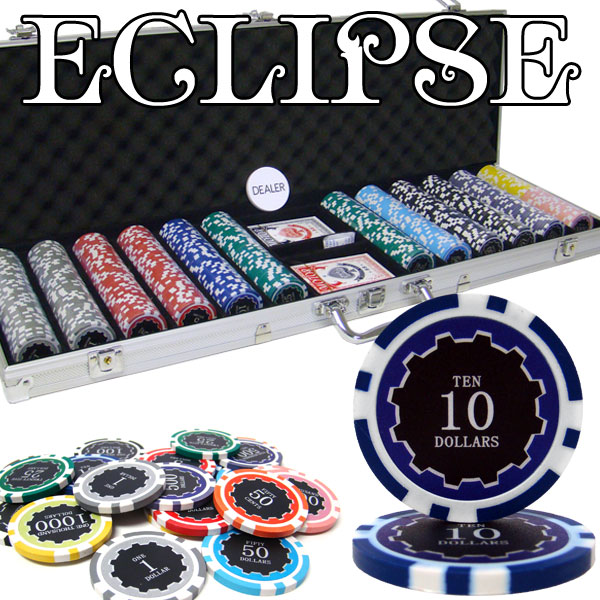 600 Ct Pre-Packaged Eclipse 14 Gram Chip Set - Aluminum