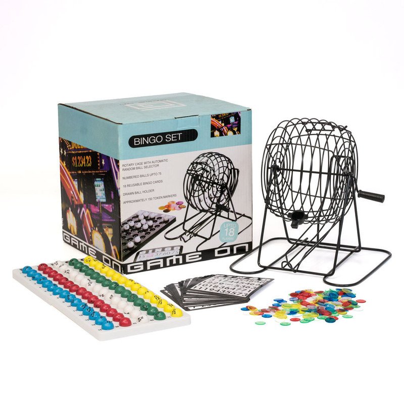 Casino Supply Large Metal Party Bingo Cage Set