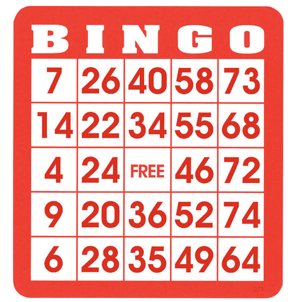 Casino Supply Re-Useable Bingo Hard Cards: Pack of 50