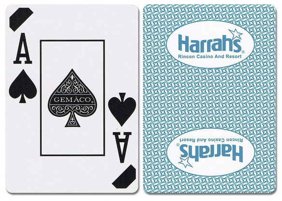 Casino Supply Harrahs Rincon New Uncancelled Casino Playing Cards: Red