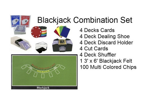 Casino Supply Blackjack Accessories Set