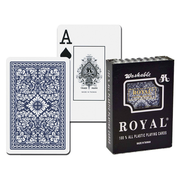 Casino Supply Royal Bridge 100% Plastic Playing Cards: Blue, Single Deck, Jumbo Index