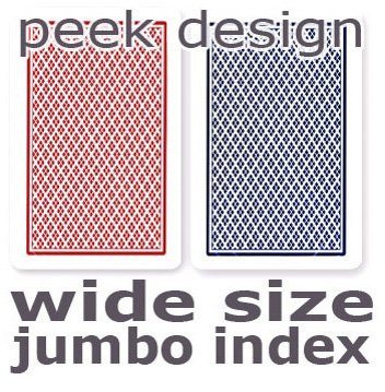 Casino Supply Copag Dual Index No Peek Playing Cards: Red & Blue, Wide Jumbo Index