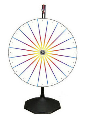 Casino Supply White Prize Wheel with Stand & Base: 24""