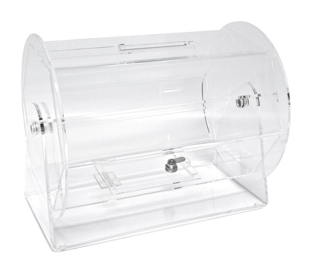 Casino Supply Acrylic Raffle Drum: Deluxe, Medium