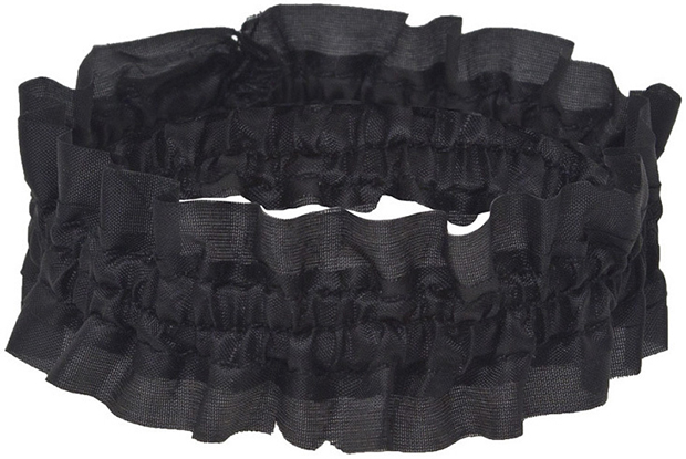 Casino Supply Black Garters: Unisex
