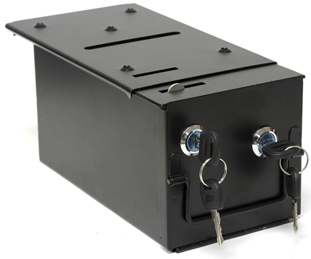 Casino Supply Homestyle Drop Box with 2 Locks & Locking Top Plate