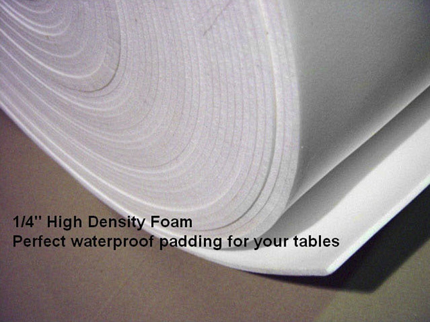 Casino Supply Volara Poker Table Foam Padding: 59 Inches Wide, Sold per Foot