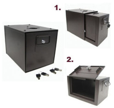 Casino Supply Standard Universal Metal Drop Box, Sleeve & Locks