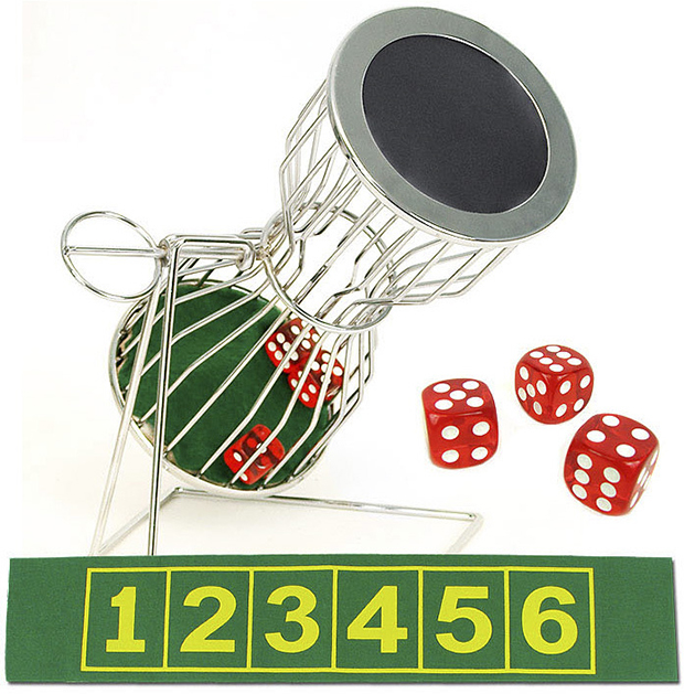 Casino Supply Chuck-A-Luck 10 Inch Cage, Dice & Laydown