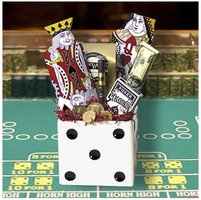 Casino Supply White Folding Dice Box: 6 Inch