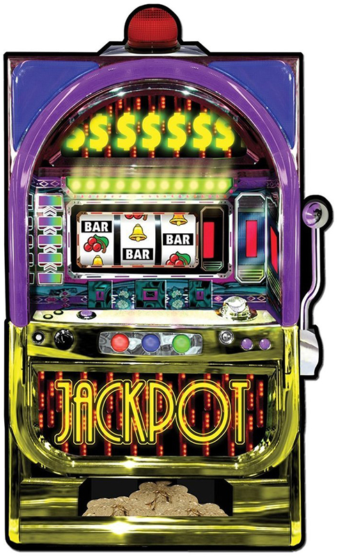 Casino Supply Slot Machine Cutout: 35 Inches