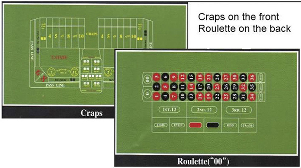 Casino Supply Craps / Roulette Felt Layout