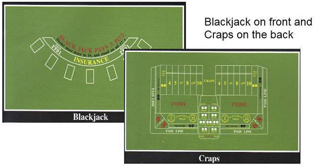 Casino Supply Blackjack / Craps Felt Layout
