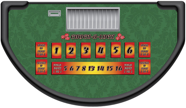 Casino Supply Chuck-A-Luck Layout: Stock - Available Immediately