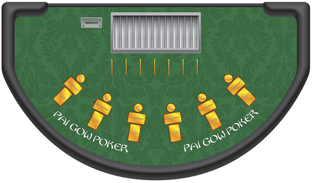 Casino Supply Pai Gow Poker Layout: Stock - Available Immediately