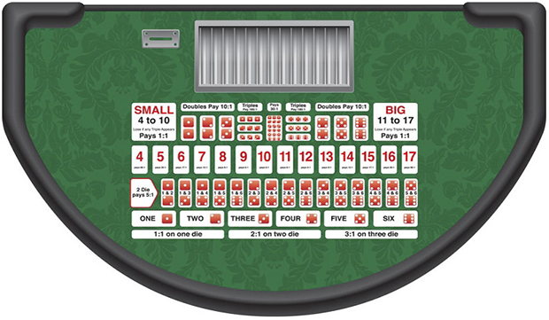 Casino Supply Sic Bo Layout: Stock - Available Immediately
