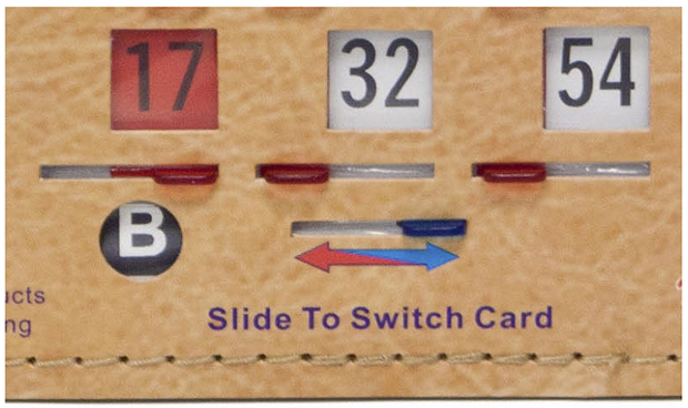 Casino Supply Senior Friendly Tabbed Bingo Double Action Duece Shutter Slide Cards